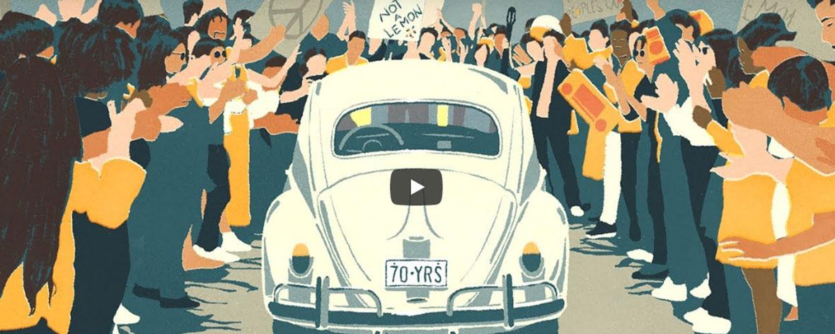 Volkswagen Beetle says g(o\!/o)dbye